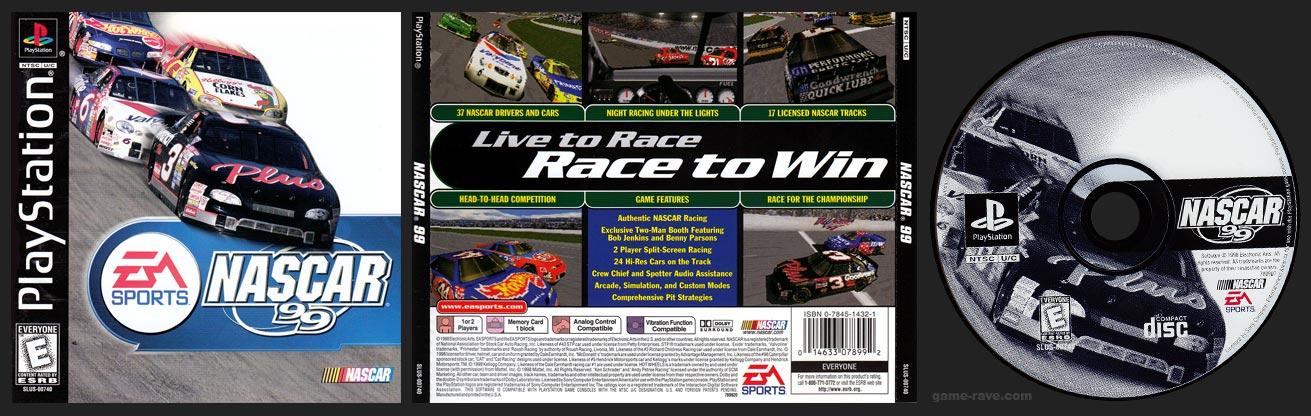 PSX PlayStation Nascar 99 Black Label Retail Release