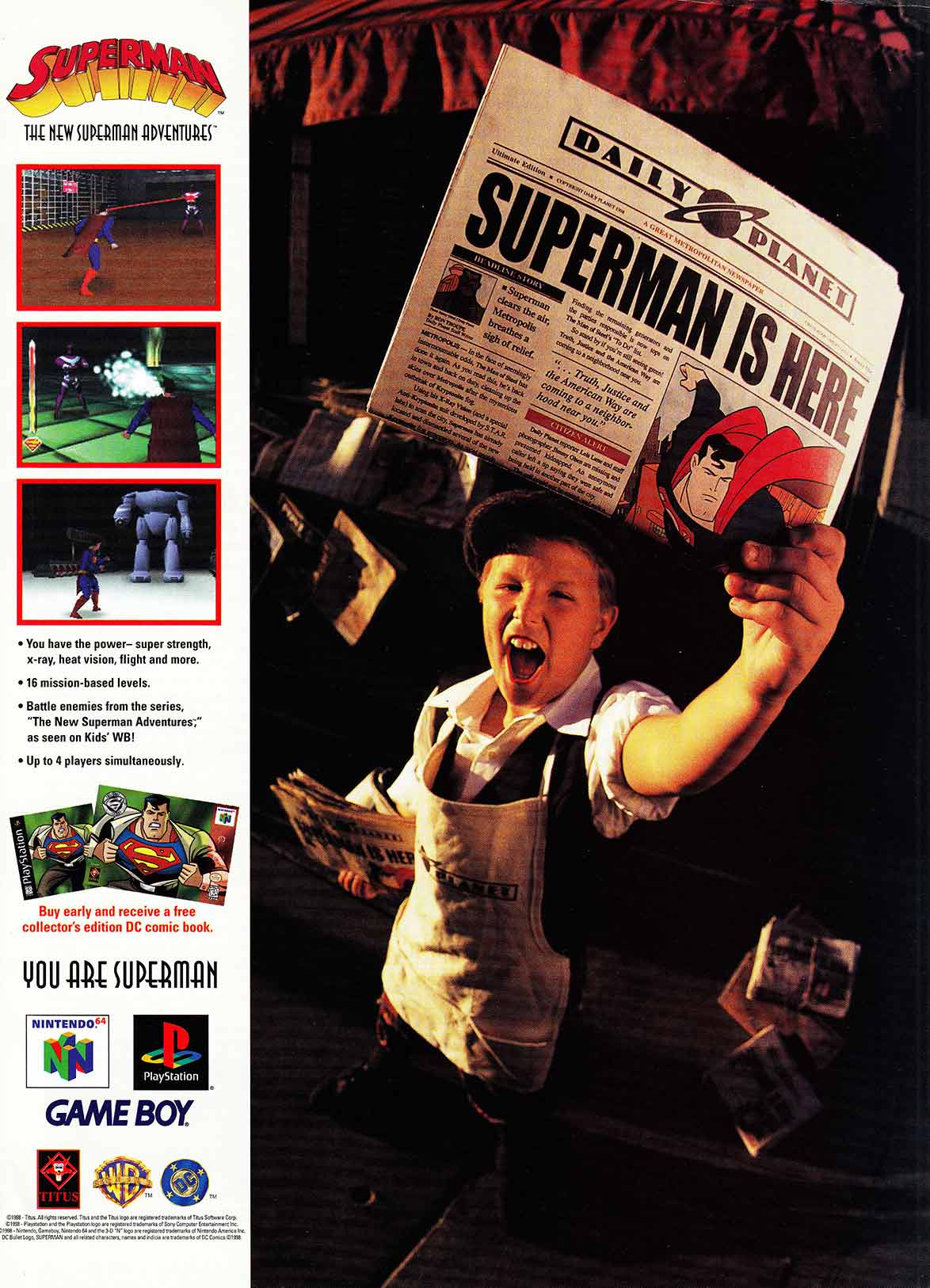 PlayStation Superman Unreleased Magazine Ad