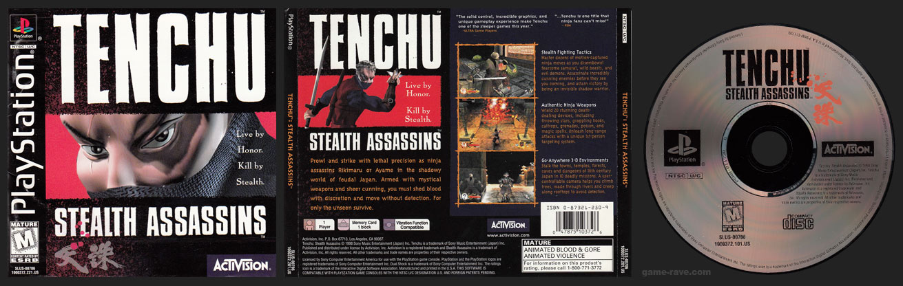 Tenchu Stealth Assassins Jewel Case Release