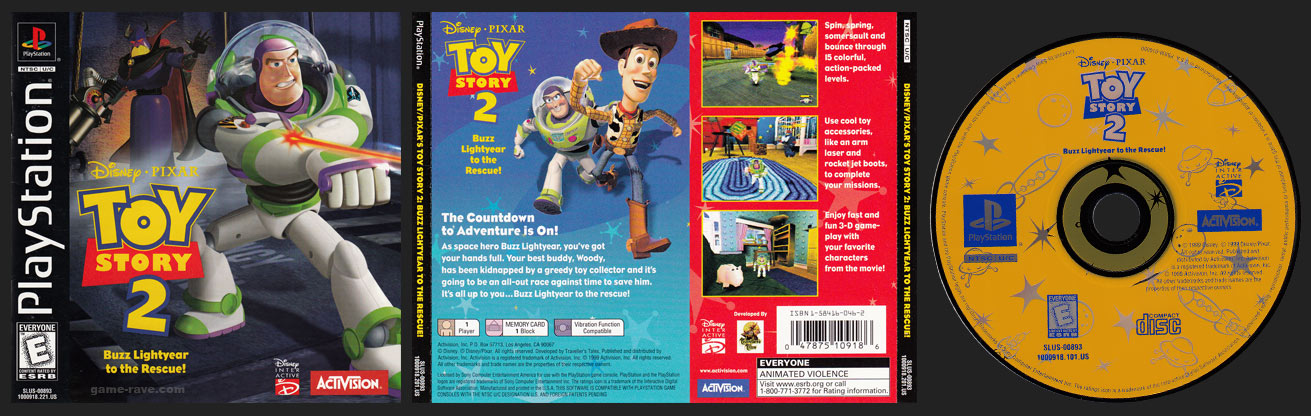 PSX PlayStation Toy Story 2 Black Label Retail Release Uncensored Version