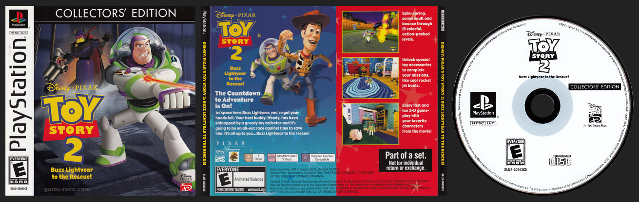 PSX PlayStation Toy Story 2 Collector's Edition Censored Release