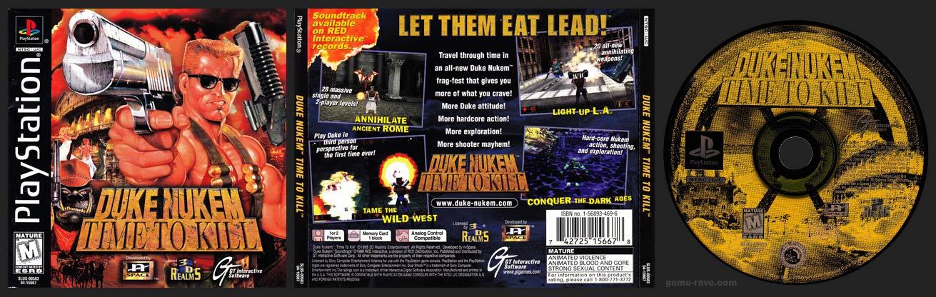 PSX PlayStation Duke Nukem Time to Kill Black Label Retail Release