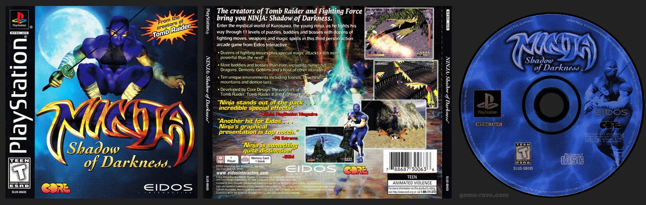 PSX PlayStation Ninja Black Label Retail Release