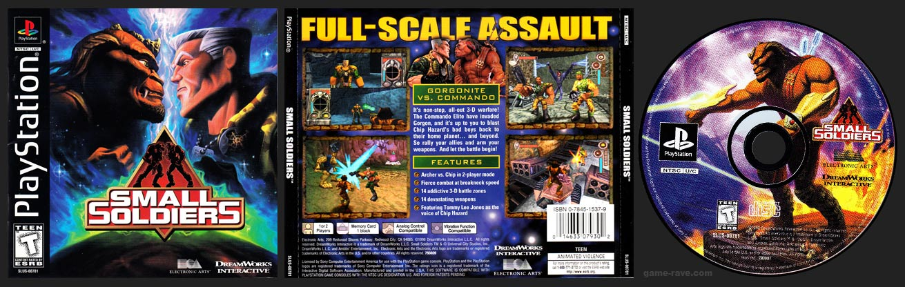 PSX PlayStation Small Soldiers Black Label Retail Release