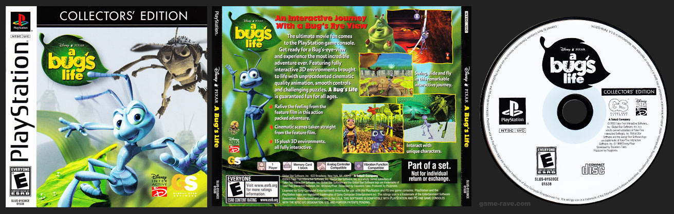 PlaySTation A Bug's Life Collector's Edition