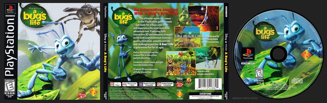 PSX PlayStation Disney / Pixar's A Bug's Life Black Label Retail Release