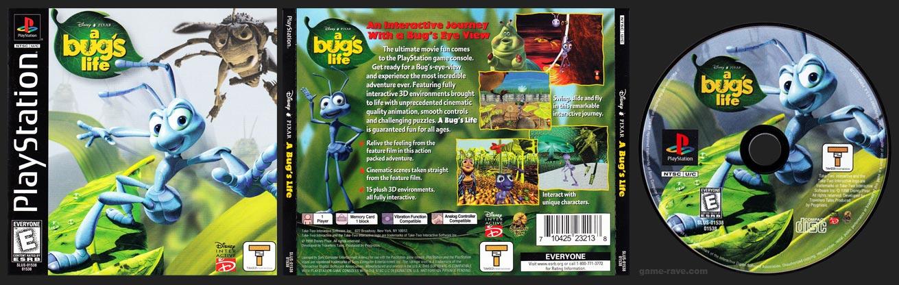 PSX PlayStation Disney / Pixar's A Bug's Life Take 2 Publishing Black Label Retail Release Variant