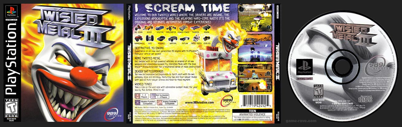 Twisted Metal III White Disc Release