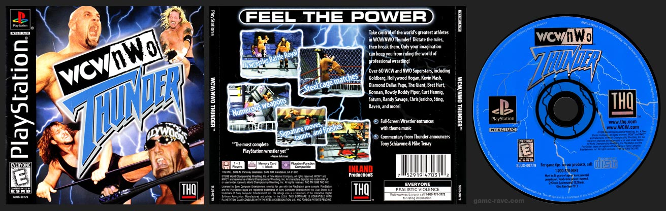 WCW vs NWO Thunder - game-rave com - Every PlayStation Game