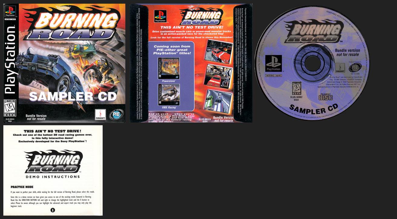 PSX PlayStation Demo Burning Road Sampler CD