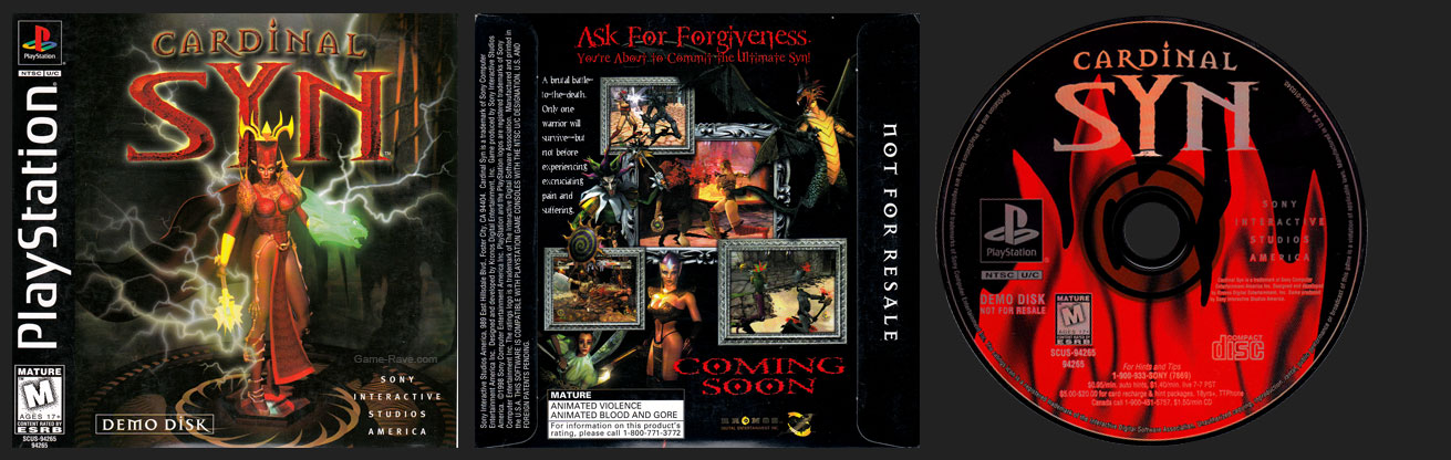 PSX PlayStation Cardinal Syn Demo