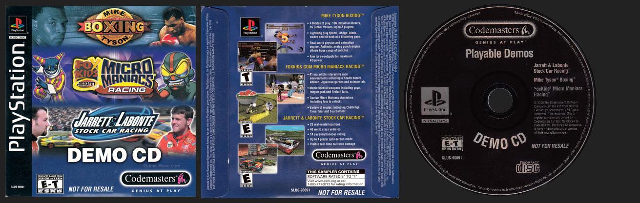 PSX PlayStation Codemasters Demo