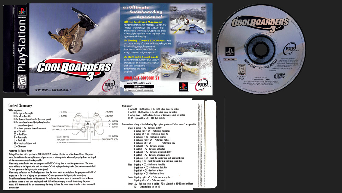 PSX Cool Boarders 3 Demo