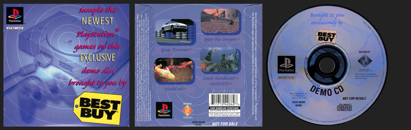 PSX PlayStation Brought To You Exclusively by Best Buy Demo Disc