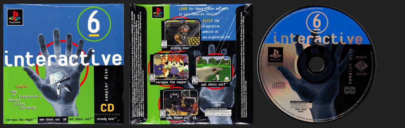 PSX PlayStation Interactive Sampler Disc CD Volume 6 Demo