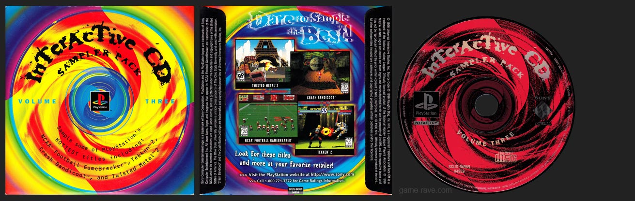 PSX Interactive CD Sampler Pack Volume 3 (with 3.5)