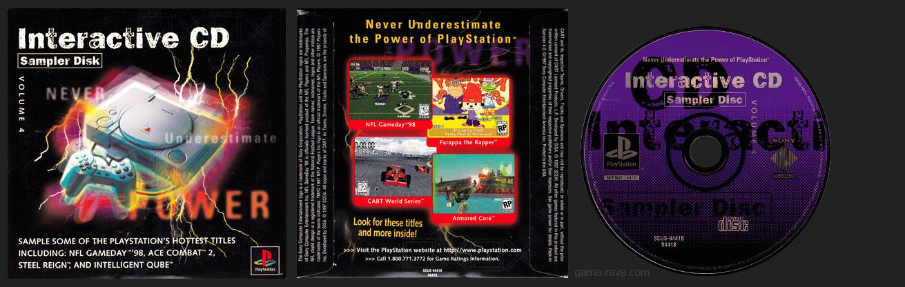 PSX Interactive CD Sampler Disk Volume 4