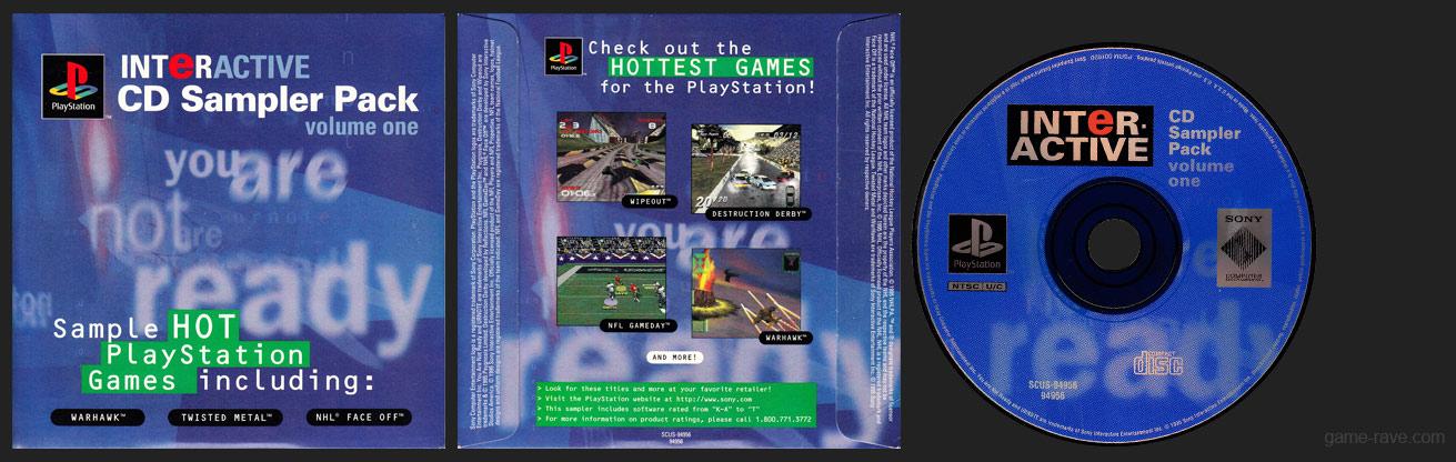 PSX PlayStation Interactive CD Sampler Pack Volume One - Teen Version