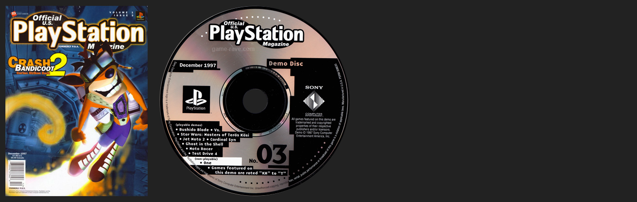 Official PlayStation Magazine Demo Vol. 3 - December 1997 Demo Disc