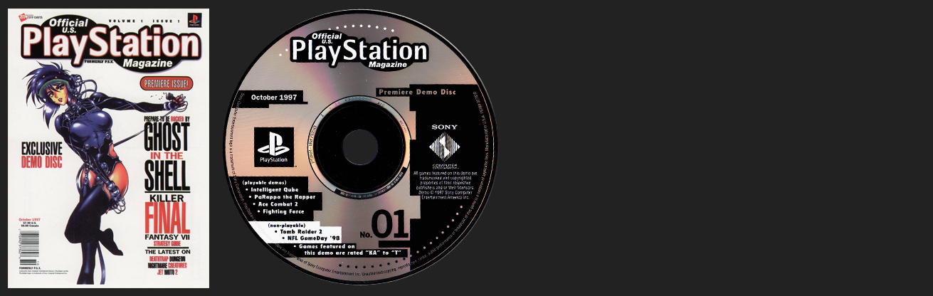 PSX PlayStation Official PlayStation Magazine Demo Vol. 1 – October 1997 Demo Disc