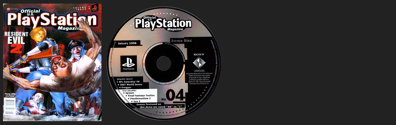 Official PlayStation Magazine Demo Vol. 4 - January 1998 Demo Disc