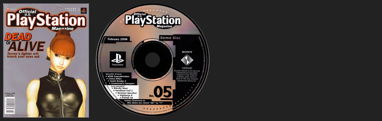 Official PlayStation Magazine Demo Vol. 5 - February 1998 Demo Disc