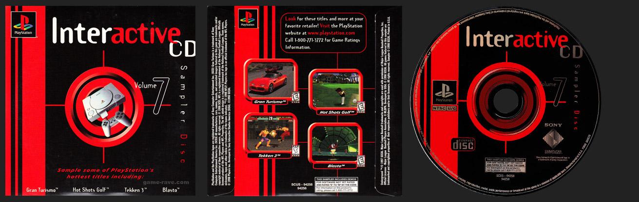PSX PlayStation Interactive Sampler Volume 7 Demo Disc
