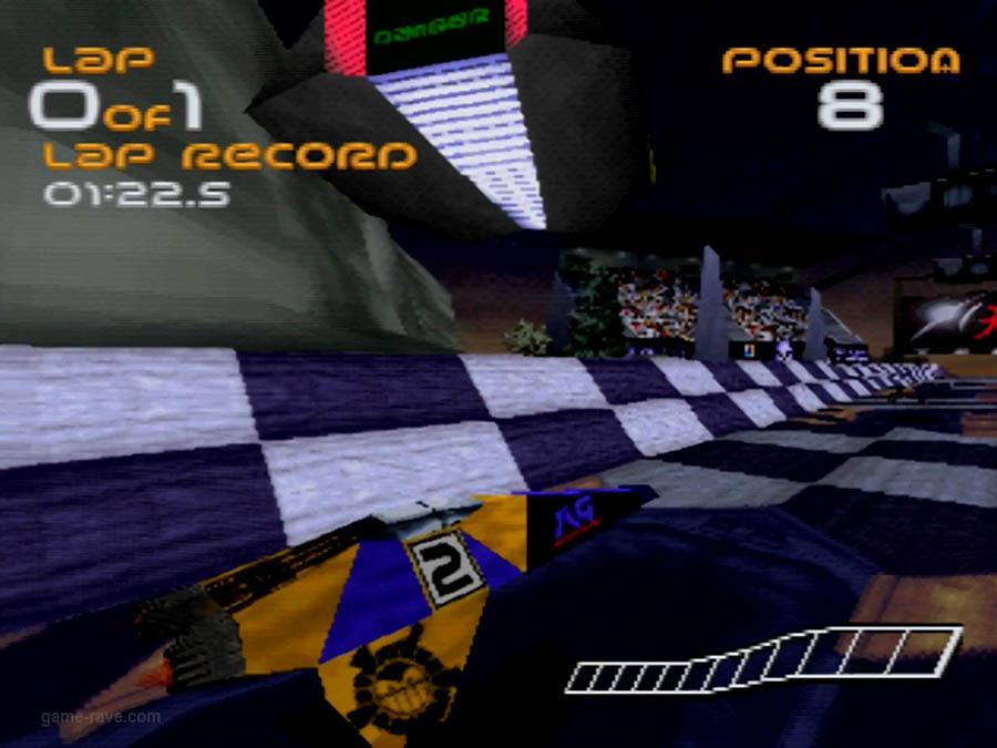PSX Interactive CD Sampler Demo Volume One Wipeout Demo Screenshot (10)