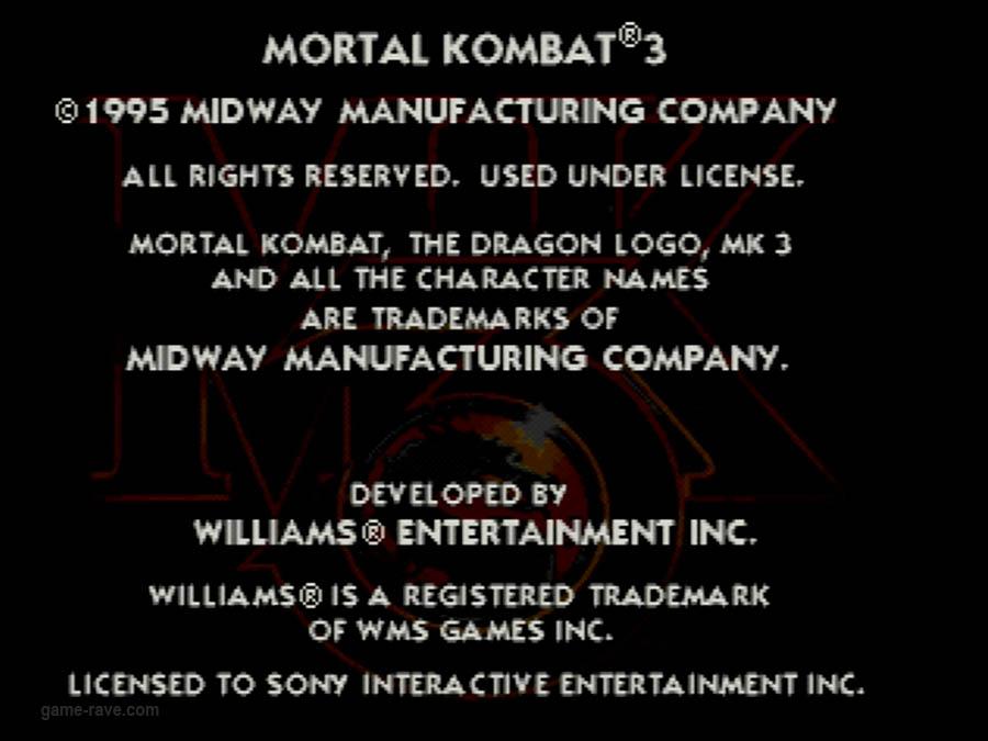 PSX Interactive CD Sampler Volume One Mortal Kombat 3 Screenshot (12)