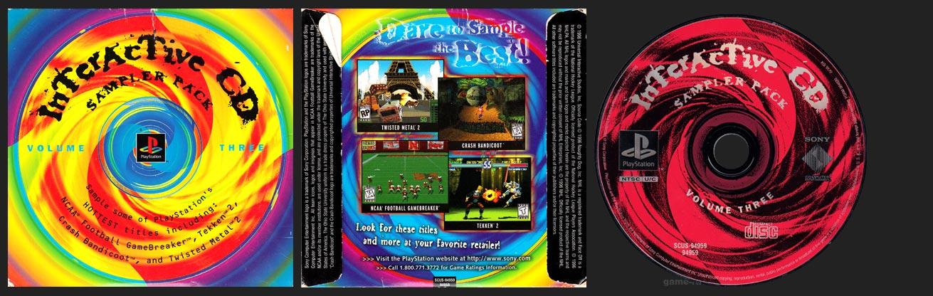 PlayStation Interactive Demo Sampler 3 1 Ring Hub