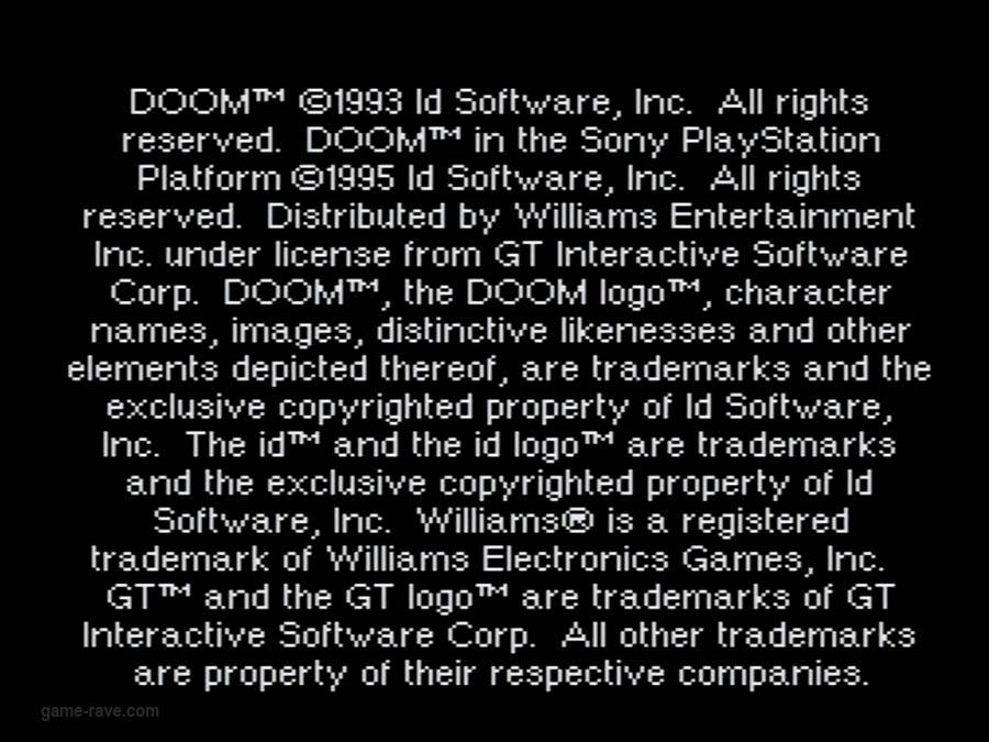 PSX Interactive Sampler CD Volume One Unreleased Doom Demo (1)