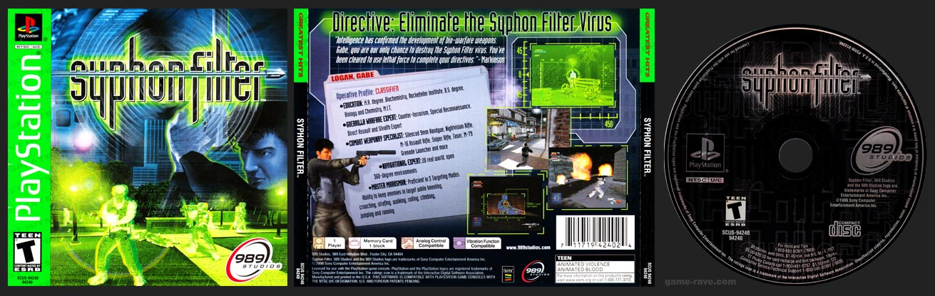 PSX Syphon Filter Greatest Hits