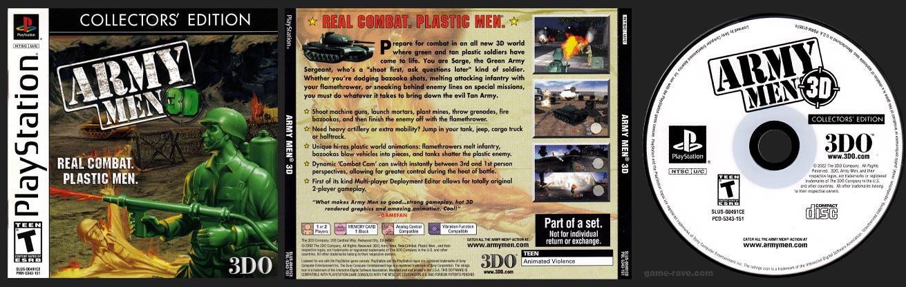 PSX PlayStation Army Men 3D