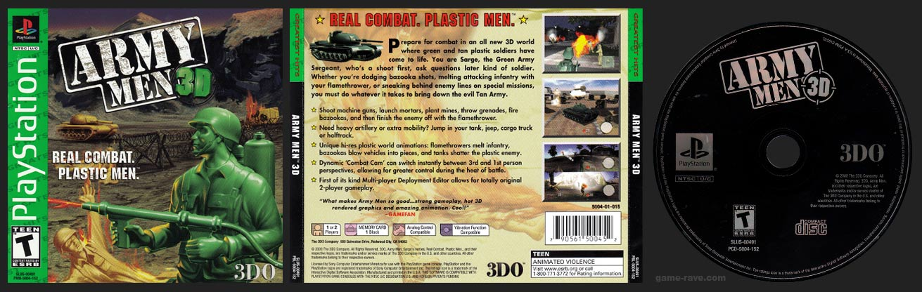 Army Men 3D Greatest Hits Release