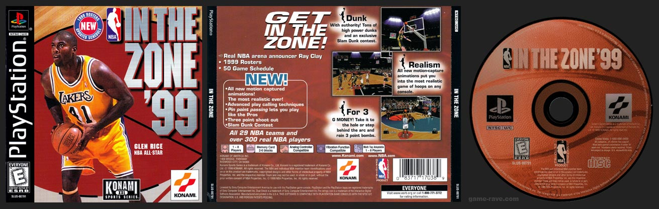 PSX NBA In the Zone '99