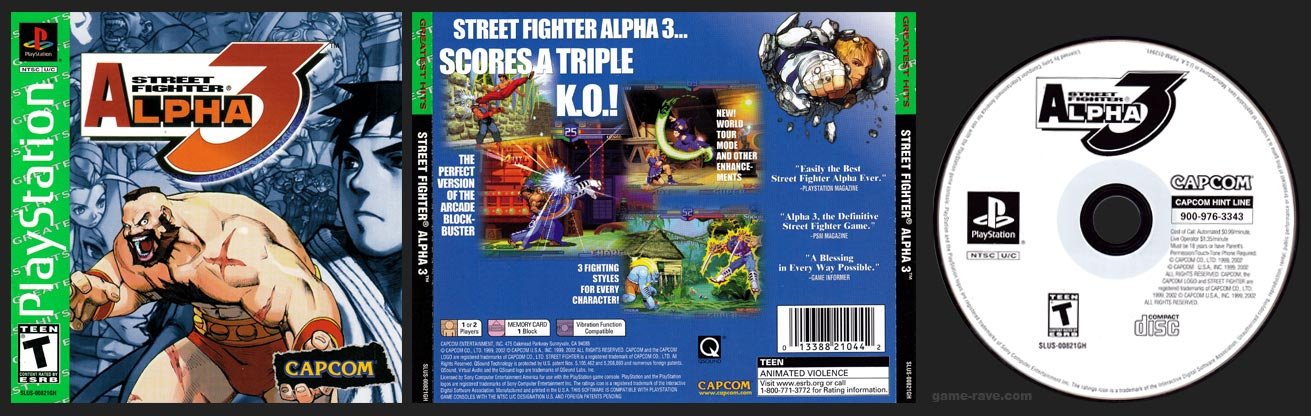 PSX Street Fighter Alpha 3 Greatest Hits