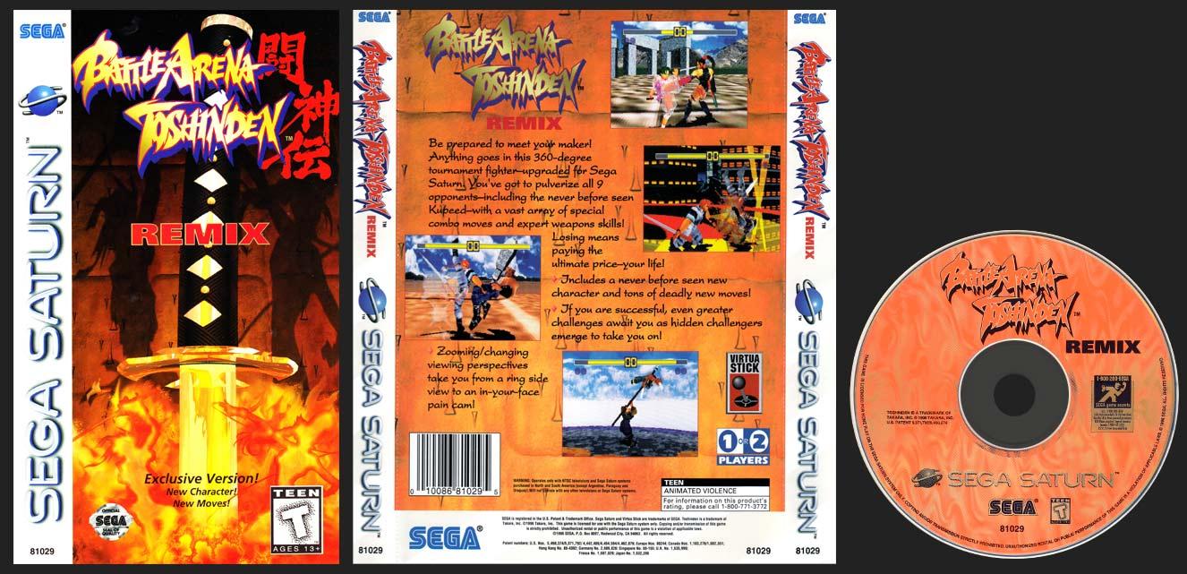 Sega Saturn Battle Arena Toshinden Remix