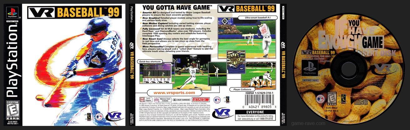 PSX VR Baseball 99