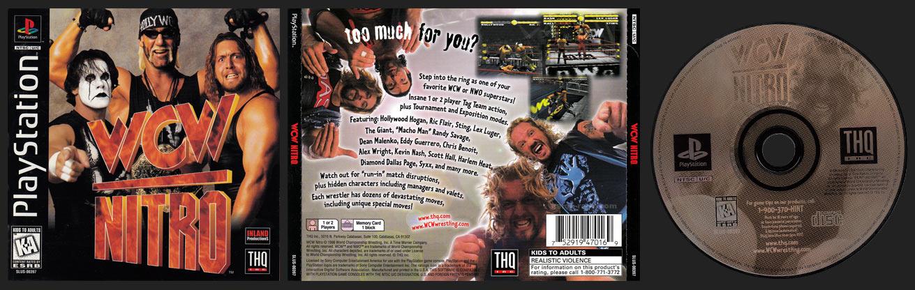 PSX PlayStation WCW Nitro Black Label Retail Release