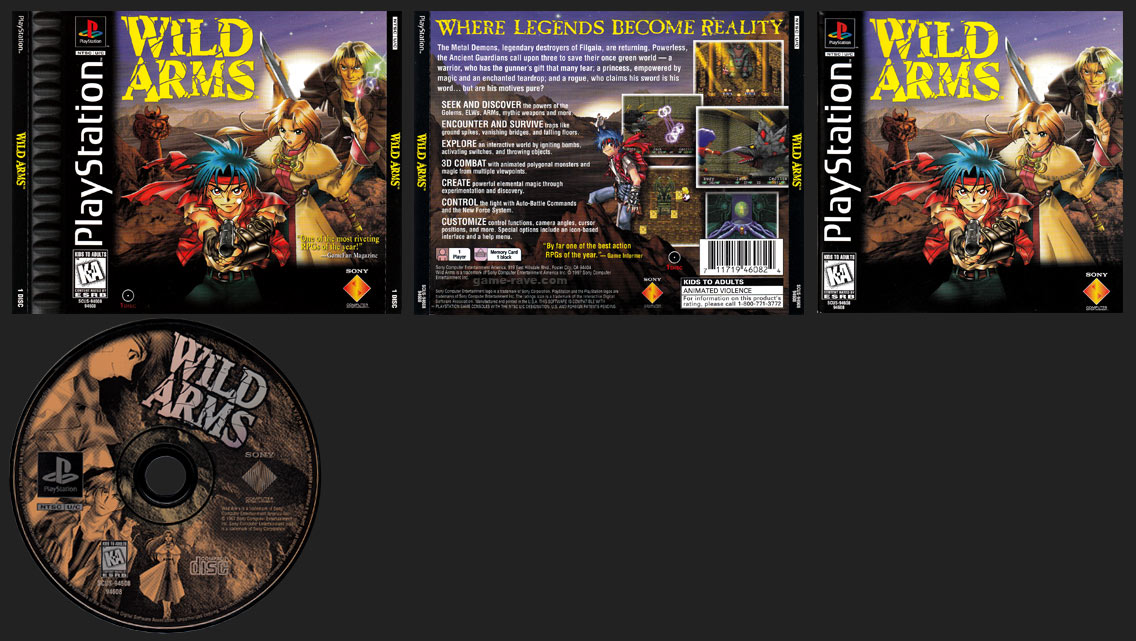PSX Wild Arms 1 Ring Release