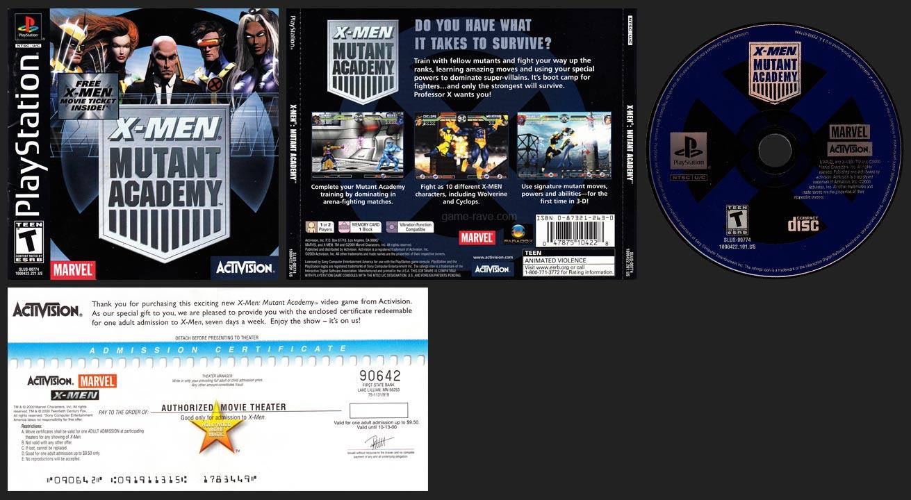 PSX X-Men Mutant Academy Movie Ticket Release