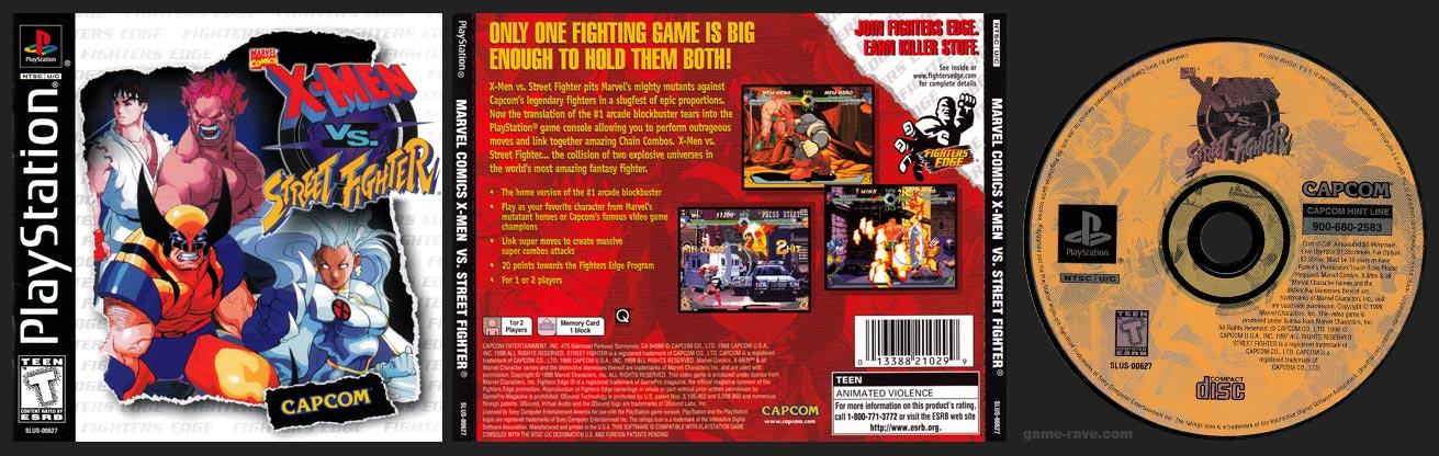 PSX PlayStation X-Men Vs Street Fighter