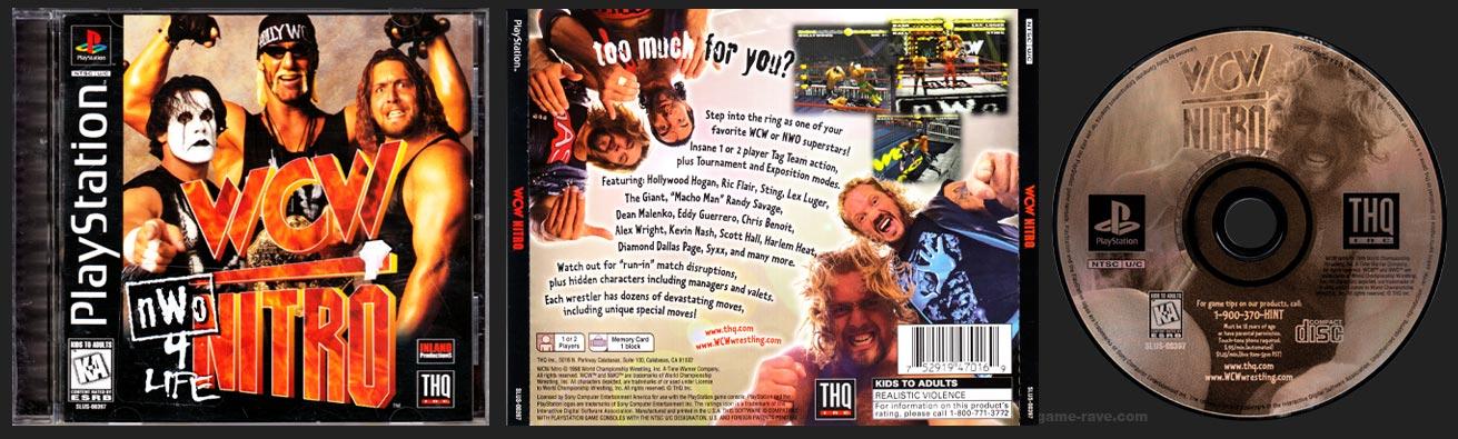 PSX PlayStation WCW Nitro Sticker Variant