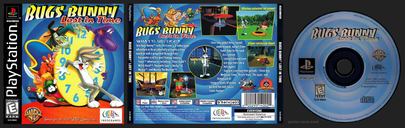 PSX Bugs Bunny Lost in Time