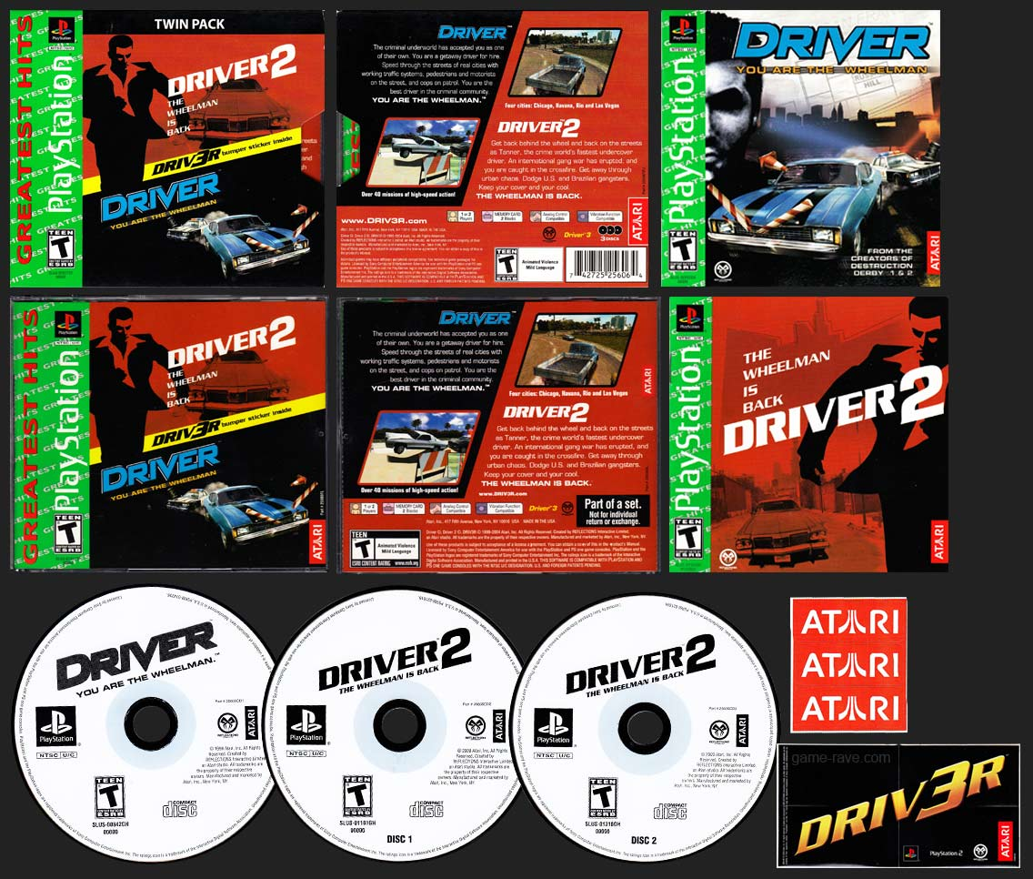 PSX PlayStation Driver Twin Pack Collectors Edition Greatest Hits Release