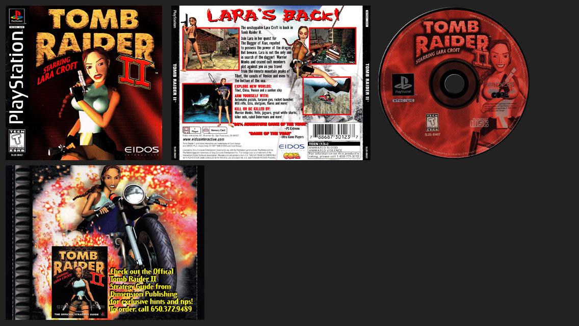 PSX PlayStation Tomb Raider II