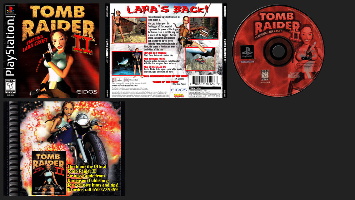 tomb raider ii ps1 cover
