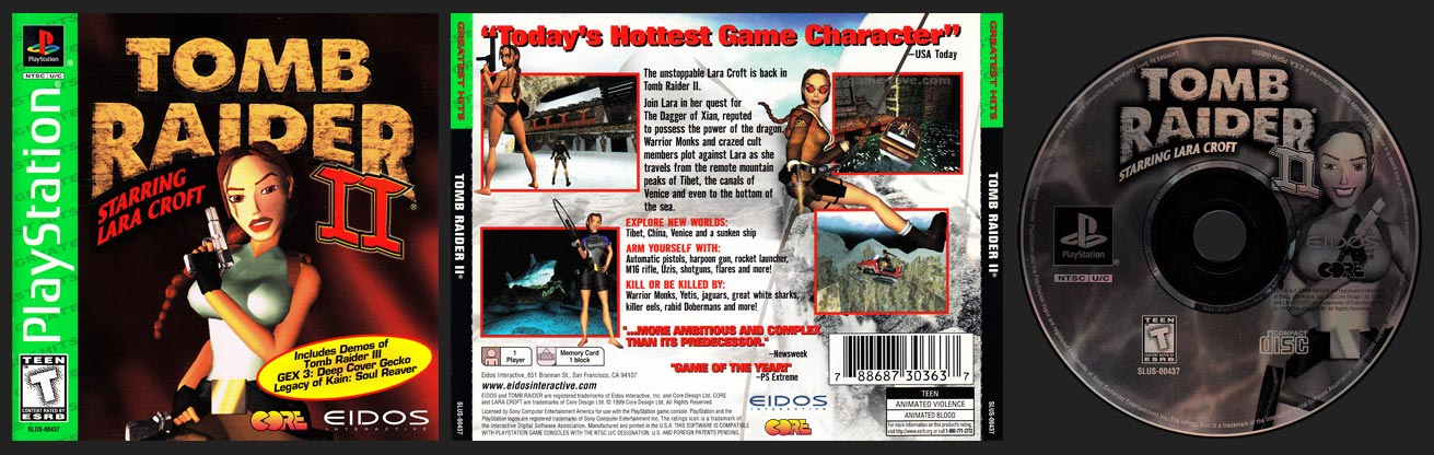 PSX Tomb Raider II Greatest Hits
