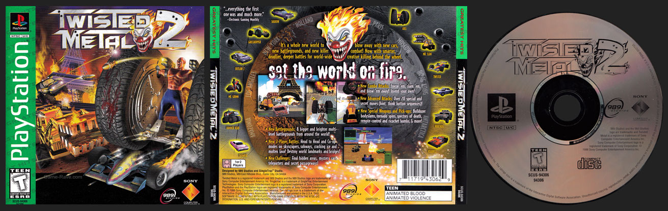 PSX Twisted Metal 2 Greatest Hit