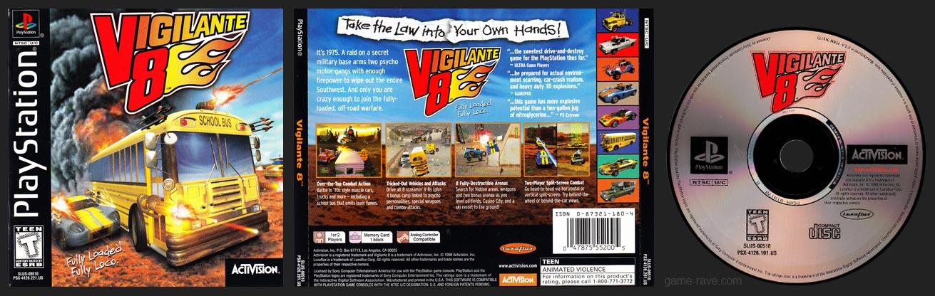 PSX PlayStation Vigilante 8 Black Label Retail Release